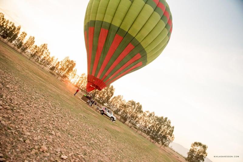 Luftballong i Marrakech